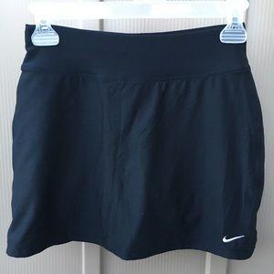Nike black running skort